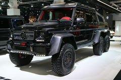 Brabus B63S 6x6 - Mercedes G 63 AMG. FRANKFURT - SEPT 10: Brabus B63S 6x6 - Mercedes G 63 AMG shown at the 65th IAA (Internationale Automobil Ausstellung) on Royalty Free Stock Photography