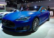 Brabus Tesla på IAA-bilarna Arkivbilder