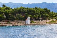 Brac海岛灯塔 免版税库存照片