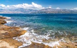 从Brac海岛的看法  库存照片