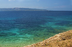 Brac Island, Bol view from Croatia Royalty Free Stock Images