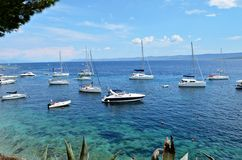 Brac Island - paradise Bol city royalty free stock photo