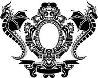 Braccia del drago con la parte superiore ed il nastro Immagine Stock
