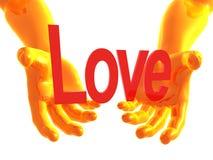 Braccia di offerta 3d di amore Fotografia Stock