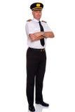 Braccia pilota di linea aerea piegate Immagini Stock Libere da Diritti