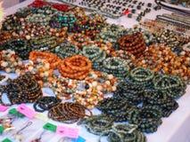 Braccialetti dei gioielli fatti dalla pietra Immagini Stock