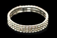 Braccialetto con i diamanti Fotografie Stock Libere da Diritti
