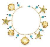 Braccialetto con i seashells illustrazione vettoriale