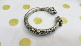 Braccialetto d'argento Fotografia Stock