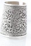 Braccialetto d'argento Fotografie Stock Libere da Diritti
