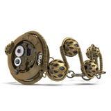 Braccialetto dei gioielli di Steampunk sull'illustrazione bianca 3D Immagine Stock