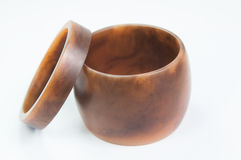 Braccialetto di legno isolato Fotografie Stock Libere da Diritti