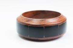 Braccialetto di legno isolato Immagine Stock