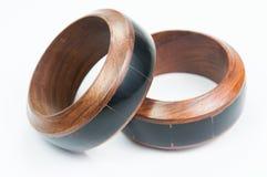 Braccialetto di legno isolato Immagini Stock