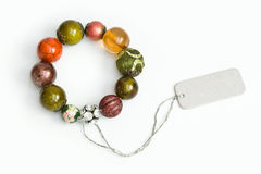Braccialetto di pietra della perla Fotografia Stock