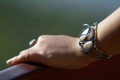 Braccialetto ed anello unici Immagine Stock
