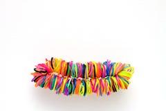 Braccialetto fatto di gomma variopinta per il telaio di tessitura dell'arcobaleno Fotografia Stock Libera da Diritti