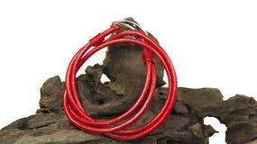 Braccialetto rosso fotografie stock
