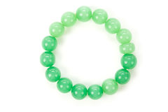 Braccialetto verde della gemma Fotografia Stock