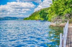 Bracciano湖视图 库存照片