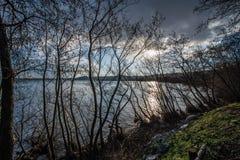 Bracciano jezioro, Rzym, Włochy Obrazy Royalty Free