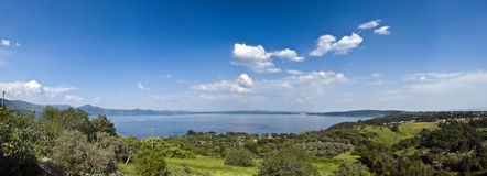 Bracciano lake Royalty Free Stock Photo