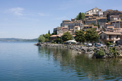 Bracciano Lake and Anguillara Sabazia Stock Image