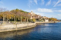 Bracciano lake in Italy stock photo