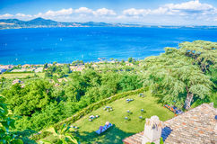 Bracciano Lake View from Odescalchi Castle Royalty Free Stock Photography