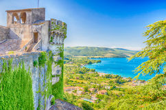 Bracciano Lake View from Odescalchi Castle Royalty Free Stock Image