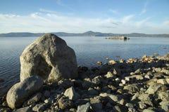 Bracciano ` s jezioro, widok od Anguillara Sabazia Obrazy Stock