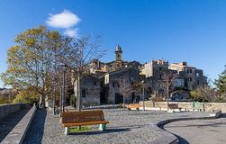 Bracciano town in Italy stock photos