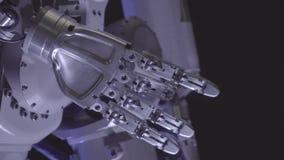 Braccio bionico del robot Mano robot innovatrice Tecnologia futuristica archivi video