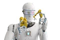 Braccio del robot di configurazione del robot royalty illustrazione gratis