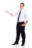 Braccio dell'uomo d'affari fuori Fotografia Stock