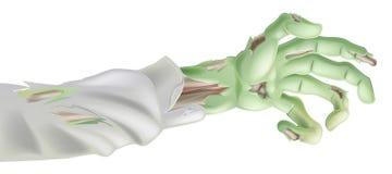 Braccio delle zombie di Halloween Fotografie Stock Libere da Diritti