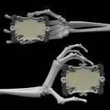 Braccio di scheletro, segni del rotolo Fotografia Stock Libera da Diritti