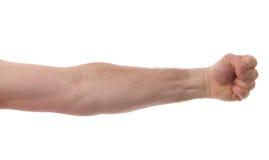 Braccio isolato con il pugno Fotografia Stock Libera da Diritti
