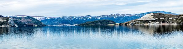 Braccio orientale della baia di Bonne, Gros Morne National Park, Terranova immagine stock libera da diritti