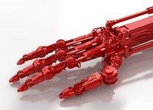 Braccio robot, colore rosso di riflessione Immagini Stock