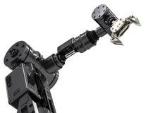 Braccio robot nero Immagini Stock