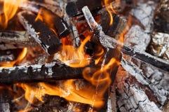 Brace bruciante Immagini Stock