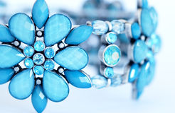 Bracelet. Close up of a blue flower bracelet Royalty Free Stock Images