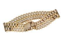 Bracelet. Red and white gold bracelet Stock Images