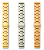 Bracelet. Steel bracelet  on a white baclground Stock Photography