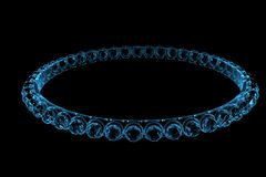 Bracelet 3D xray blue Royalty Free Stock Photo