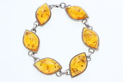 Bracelet with amber Stock Photography