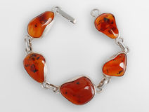 Bracelet with amber Stock Photo
