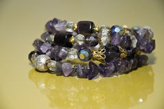 Bracelet with amethyst Stock Photography