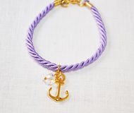 Bracelet with anchor Stock Photography